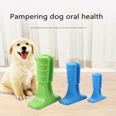 Dogs Toothbrush Stick Chew Bite Toy Brushing Teeth Cleaning Pets Oralcare Safe