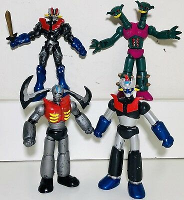 Mazinger Z ( Tranzor Z ) 5 In Set Of 4 Figures Mexican Toys