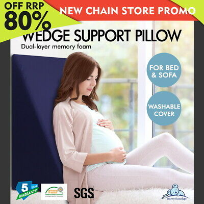 Starry Eucalypt Memory Foam Wedge Pillow WATERPROOF COVER Cushion Back Support