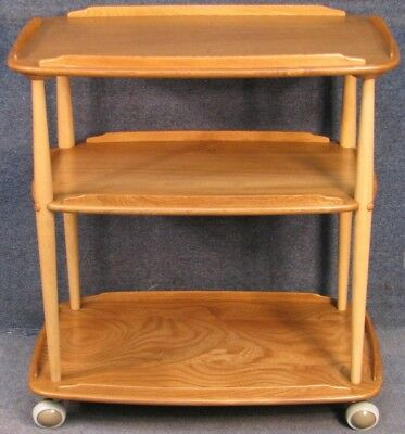 Ercol Elm And Beech Windsor Trolley In Light Finish No 2