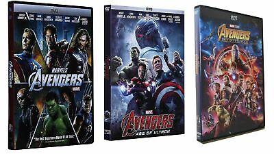 Marvel's AVENGERS 1,2 & 3 (DVD 2018) 3 Movies -Brand New Trilogy Bundle!