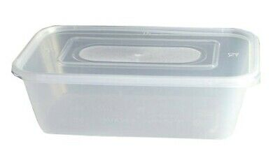 Chinese Food Containers & Lids Microwave Safe 650ml Clear Plastic Takeaway Box