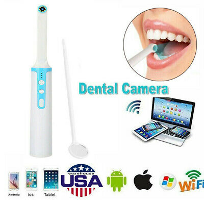 2MP Oral Dental WiFi HD Intraoral Endoscope Wireless Dental Camera 8 LED Lights