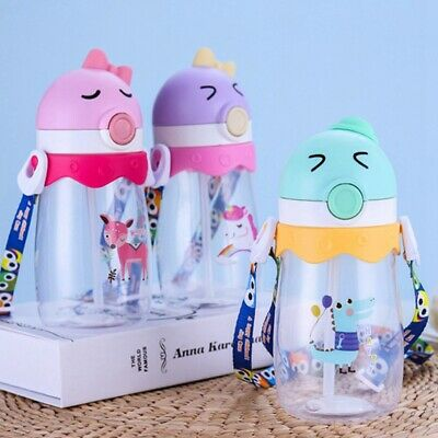 Toddler Baby Kid Feeding Drinking Water Straw Bottle Sippy Suction Cup Fashion