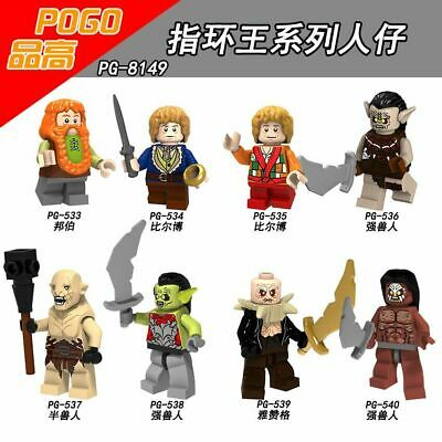 Baukästen Figur 8PCS The Hobbit The Lord of the Rings Fate Bilbo Baggins Orcus