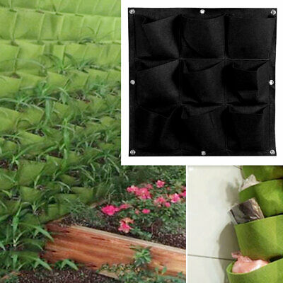 9 Pocket Vertical Hanging Planting Bags Seedling Wall Planter Growing Bags RY
