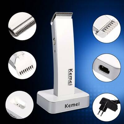 Mens Cordless Electric Rechargeable Hair Clipper Trimmer Beard Razor Shaver Kit
