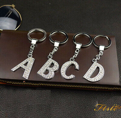 Personalised Initial Letter Alphabet A - Z Keyring for Clip on Charms