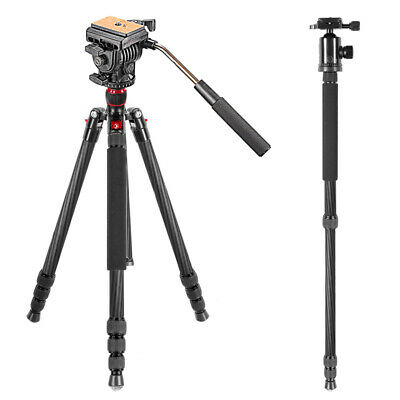 Nw-1510 Professional Ball Head+Carbon Fiber Tripod Monopod For Dslr Camera