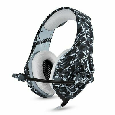 3.5mm Mic Gaming Headset Camouflage Headphone For PC Laptop PS4 Pro Xbox One X S