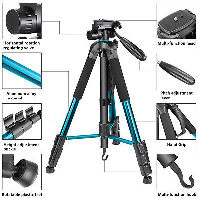 Neewer Tripod Monopod 70inches/177cm with 3-Way Swivel Pan Head Carrying Bag