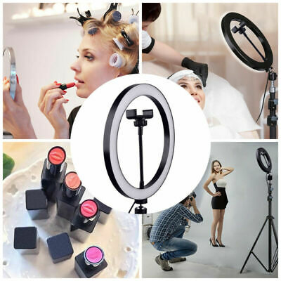 Dimmable Selfie Ring Light Video Live 2700-6500K Photo Studio LED+Phone Holder