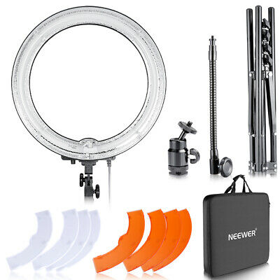 Neewer Photo Studio Dimmable 18 inches 75W Ring Fluorescent Light and Stand Kit