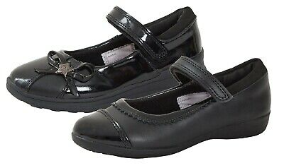 Girls Leather School Shoes Mary Jane Scuff Resistant Black Patent Party Shoes