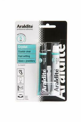 Araldite 400008 Adhesive Crystal Clear Epoxy 2 x 15ml Tubes