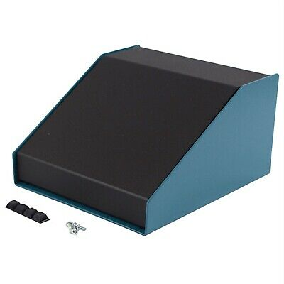 Hammond 1456FG4BKBU Sloped Enclosure 189x165x107mm Aluminium Blue/Black