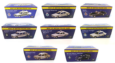 Lot de 10 voitures Police Anglaise 1/43 ATLAS FORD AUSTIN MINI DIECAST MODEL CAR