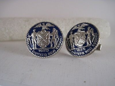 New York City  Seal cloisonne  logo cufflinks