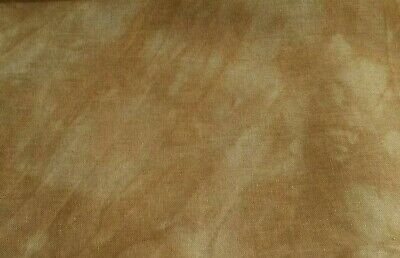"""13"""" x 18"""" HAND DYED CINNAMON AND CREAM 32 CT LINEN FABRIC FOR CROSS STITCH"""