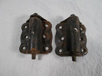 PAIR antique DOOR HINGES Spring Loaded SPRING CLOSE VICTORIAN