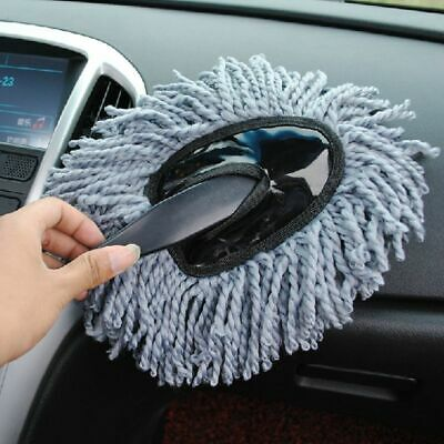 New Grey Car Dusting Brush Washing Tool Auto Cleaning Microfiber Duster Mop