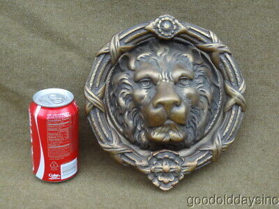 Massive Heavy Duty Bronze - Lions Head Door Knocker - Lion for Your Mansion
