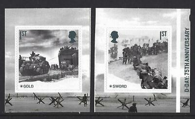 GREAT BRITAIN 2019 75th ANNIVERSARY OF D-DAY  BOOKLET PAIR UNMOUNTED MINT MNH