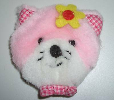 "1Pc 3"" Padded Furry Stuffed Plaid Kitten Sew On Glue On Applique Adorn Embellish"