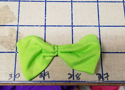 Lime Shiny Bow Ties Spandex Handmade Applique Crafts Sew Patch Glue On VTG Med
