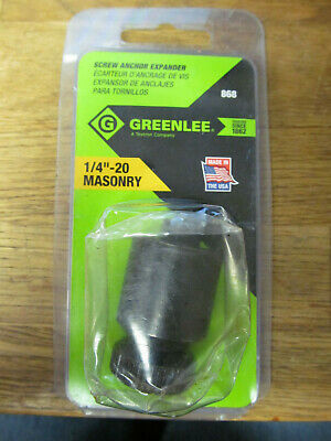GREENLEE 868 Screw Anchor Expander,1//4-20