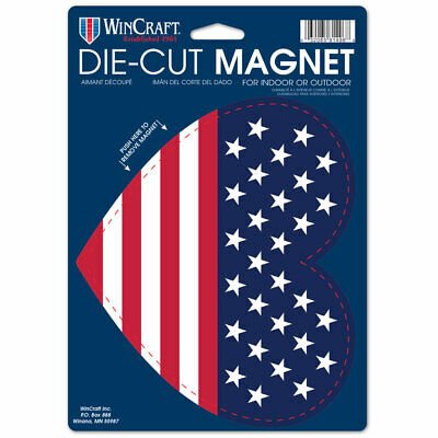 "USA Heart Flag Die Cut 6.25"" x 9"" Car Magnet"