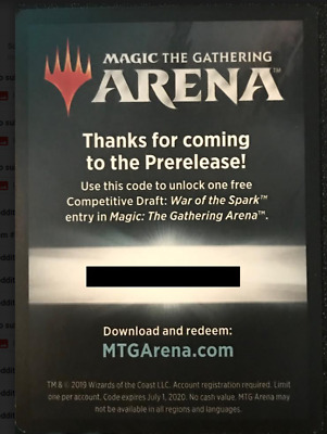 MTG Arena Code 1x War of the Spark Competitive Draft Entry
