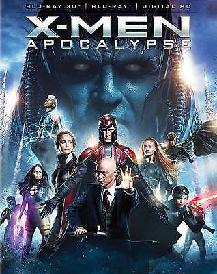 X-Men: Apocalypse (Blu-ray Disc, 2016, 3D ) NEW
