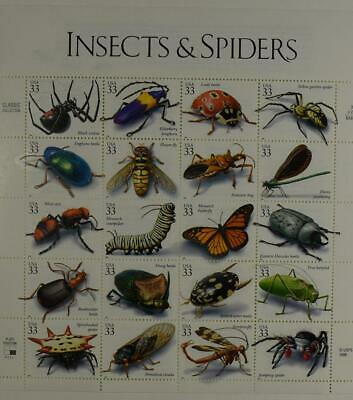 Us Scott 3351 Pane Of 20 Insects & Spiders 33 Cents Face Mnh