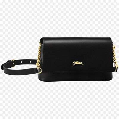 f46fa5bf48 Brand New Longchamp Honore 404 Black Leather Crossbody Bag/Purse Gold  Hardware