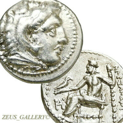 Lifetime Issue ALEXANDER the Great R!Coin XF Herakles Ancient Silver Drachm Zeus