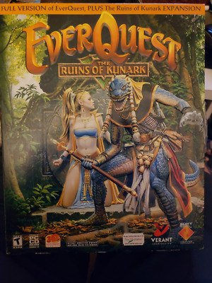 EVERQUEST: THE RUINS of Kunark (PC, 2000) Windows Disc&case Missing