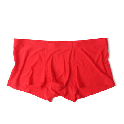 Pouch Boxers Underwear Trunks Lingerie Knickers Tight Elastic Mens Silky Bulge