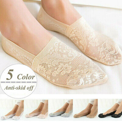 Hot Women Invisible No Show Nonslip Lace Boat Liner Low Cut Cotton Summer Socks