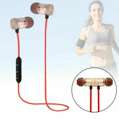 Bluetooth4.2 Earphone Headset Wireless Stereo Magnetic Earbud For All Phone