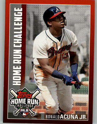 2019 Topps Series 1 Home Run Challenge Unused #HRC-16 Ronald Acuna Jr. Braves