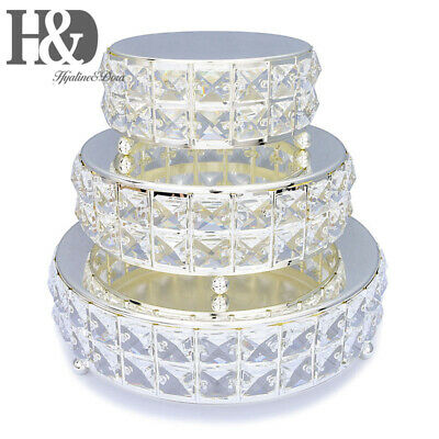 Crystal Wedding Cake Stand Cupcake Base Dessert Serving Plate Party Centerpiece