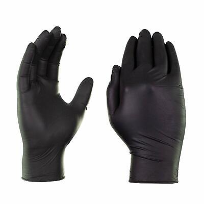 100 Pack Black Gloves Nitrile Powder Free Latex Rubber Heavy Duty Durable Large