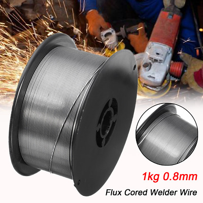 Pack of 4 Stainless Steel Gasless (Flux Cored) MIG Welding Wire - 0.8mm 1Kg UK