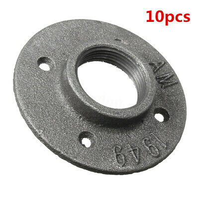1-1/2'' Malleable Threaded Floor Flange Steel Iron Pipe Fitting Wall Mount Black