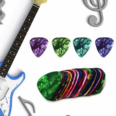 0.46/0.71MM Multicolor Celluloid Guitar Bass Picks Plectrums For Guitar New SS