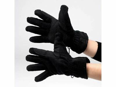 HY Thinsulate Fleece Riding Gloves - Black - Size Large - BN