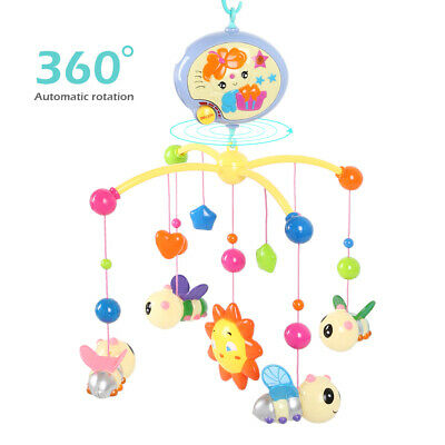 Fashion Baby Rotary Musical Bed Crib Cot Mobile Stars Dreams Nursery Sound Toy
