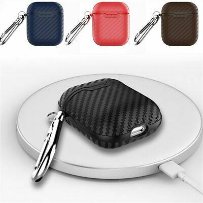 Carbon Fiber Soft Case For Apple AirPods 1 / 2nd Generation Wireless Charging Dw