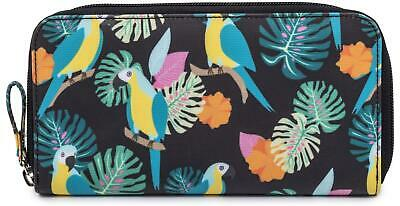 Pink Lining WALLET - PARROT BLACK Baby Changing Nappies BN